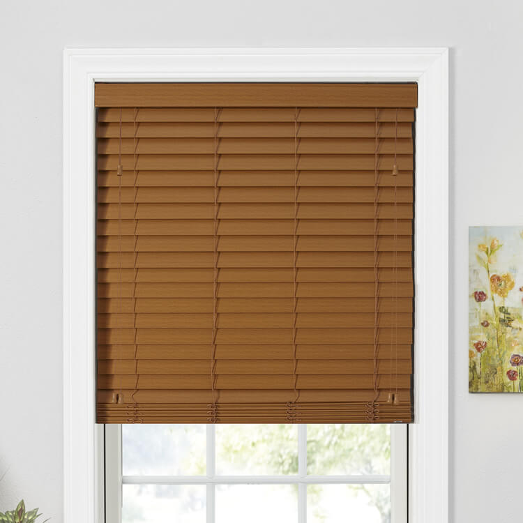 "Value 2"" Privacy Faux Wood Blinds"