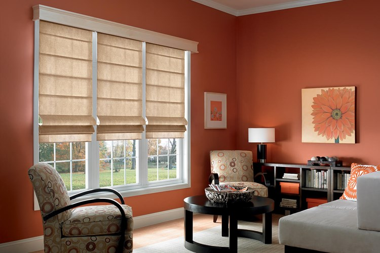 Flat Tailored Roman Shades